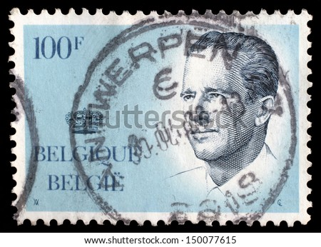 BELGIUM - CIRCA 1970s: A stamp printed in BELGIUM shows image portrait Albert II is the current King of the Belgians and a constitutional monarch, circa 1970s