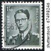 BELGIUM - CIRCA 1952: stamp printed by Belgium, shows King Baudouin, circa 1952 - stock photo