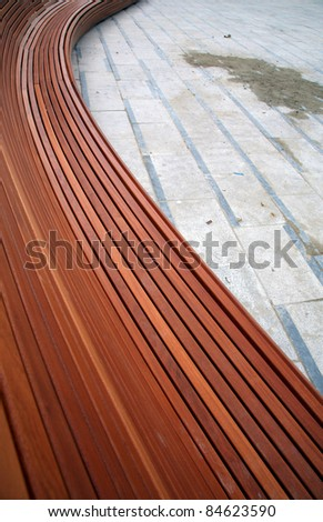 Belgium, Curvy benches on place Flagey square in Brussels