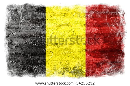 Belgium grunge flag - stock photo