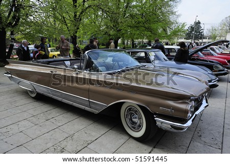 "BELGRADE - APRIL 10: ""Buick electra 225"" seen on ""Fourth annual meeting of historian automobile association"" April 10, 2010 in Belgrade, Serbia."