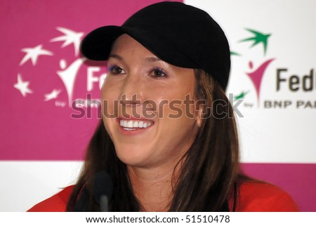 BELGRADE - APRIL 22: Serbian tennis player Jelena Jankovic on press conference, FED CUP SERBIA vs SLOVAK REPUBLIC, April 22, 2010 in Belgrade, Serbia