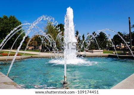 Belgrade fountain in Tasmajdan park - stock photo