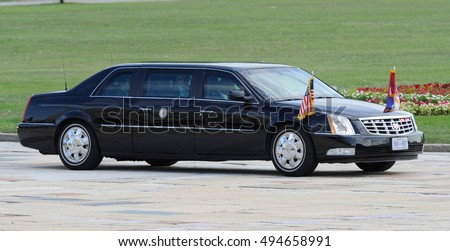 "BELGRADE, SERBIA - AUGUST 16th, 2016: United States Vice Presidend Joseph ""Joe"" Biden arives in special armoured car, on August 16th in Belgrade"
