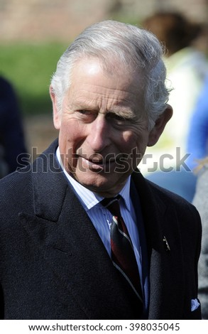 BELGRADE, SERBIA - MARCH 17th,  2016: Charles, Prince of Wales takes a walk around Belgrade castle on March 17th, in Belgrade