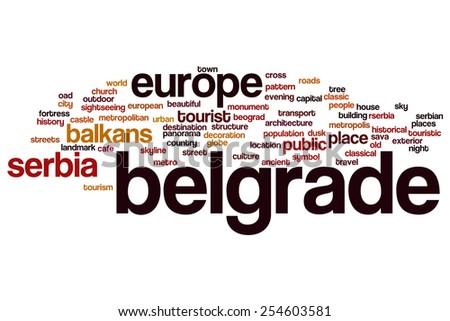 Belgrade word cloud concept - stock photo