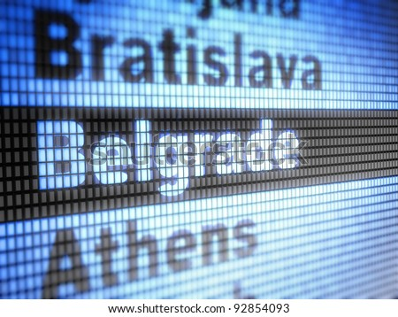 Belgrade. World capitals  Full collection of icons like that is in my portfolio - stock photo
