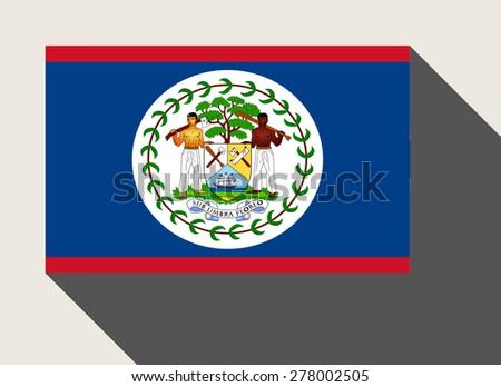 Belize flag in flat web design style. - stock photo