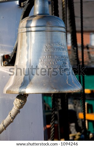 Bell Aboard USS Constitution - stock photo
