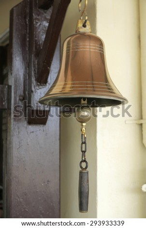 Bell at Train station, golden bell