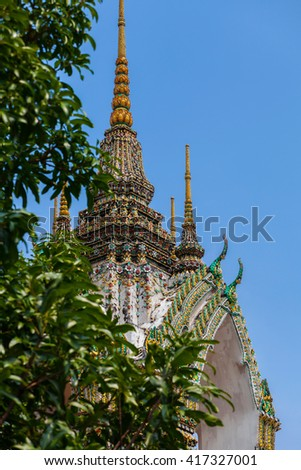Bell at Wat Phra Kaew Grand Palace in Bangkok - stock photo