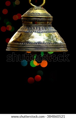 Bell, hanging bell, metal bell  - stock photo