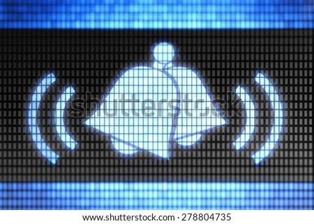 Bell icon - stock photo