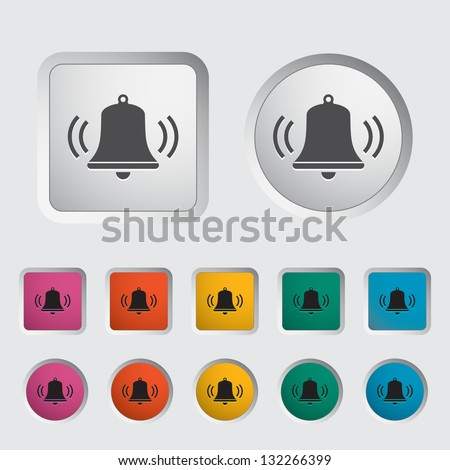 Bell icon. Vector version also available in my portfolio. - stock photo