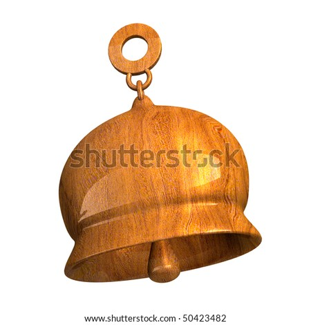 bell in wood (3D) - stock photo