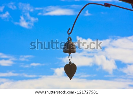 bell of temple in thailand - stock photo