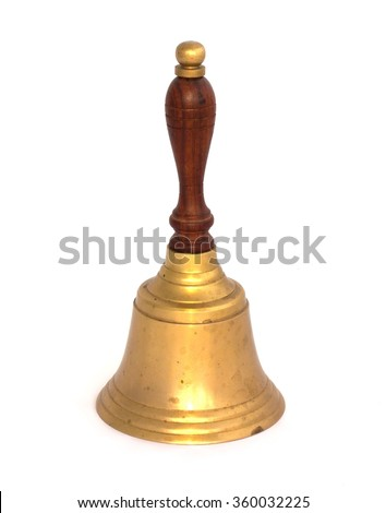 Bell on a white background - stock photo