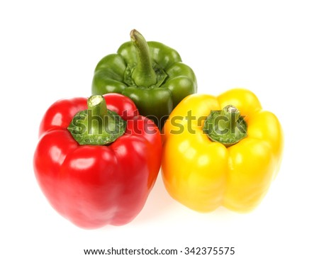 bell pepper (capsicum) on white background - stock photo