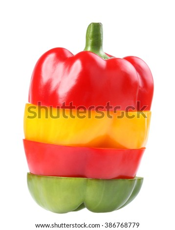 bell pepper (capsicum) on white background