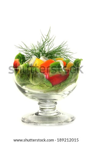 bell pepper salad - stock photo