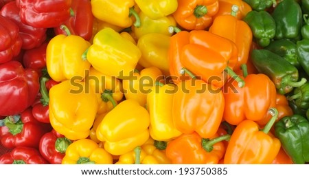 bell peppers background - stock photo