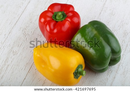 Bell Peppers - Red, yellow and green