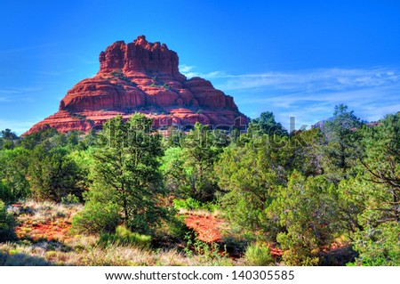 Bell rock Sedona Arizona red rock country - stock photo