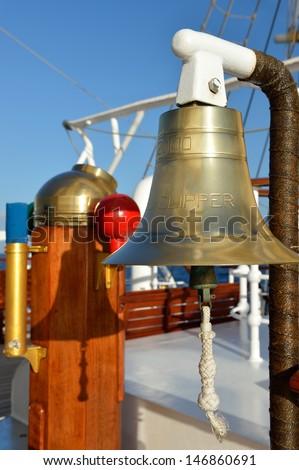 Bell sailing ship - stock photo