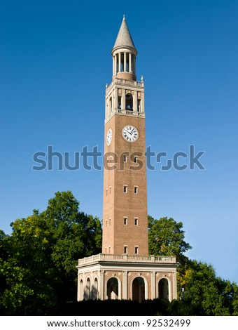 Bell Tower at UNC Chapel Hill - stock photo