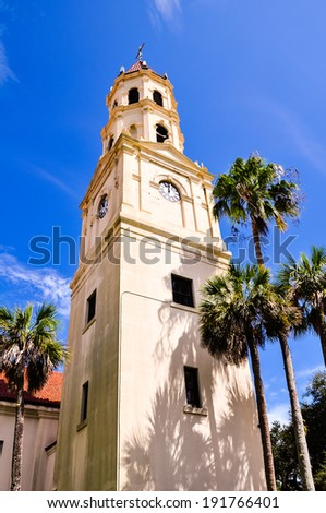 bell tower in st. augustine - stock photo