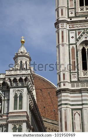 bell tower of Giotto and Brunelleschi's dome in Florence