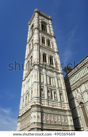 Bell tower of Santa Maria Del Fiore Cathedral in Florence, Italy
