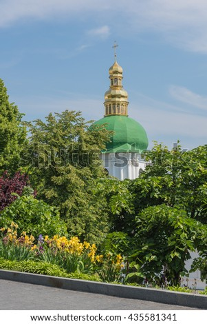 Bell tower of the near caves Kyiv - stock photo