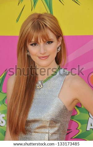 Bella Thorne at Nickelodeon's 26th Annual Kids' Choice Awards at the Galen Centre, Los Angeles. March 23, 2013  Los Angeles, CA Picture: Paul Smith - stock photo