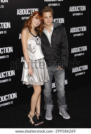 Bella Thorne at the Los Angeles premiere of 'Abduction' held at the Grauman's Chinese Theater in Los Angeles on September 15, 2011.  - stock photo