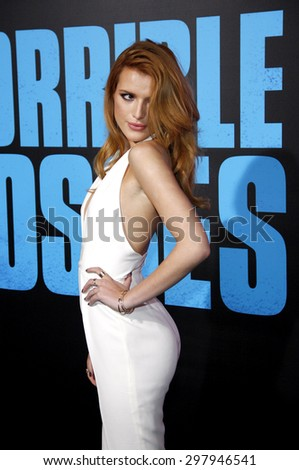 Bella Thorne at the Los Angeles premiere of 'Horrible Bosses 2' held at the TCL Chinese Theatre in Los Angeles on November 20, 2014 in Los Angeles, California.  - stock photo