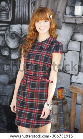 Bella Thorne at the Los Angeles premiere of 'Puss In Boots' held at the Regency Village Theater in Westwood, USA on October 23, 2011. - stock photo