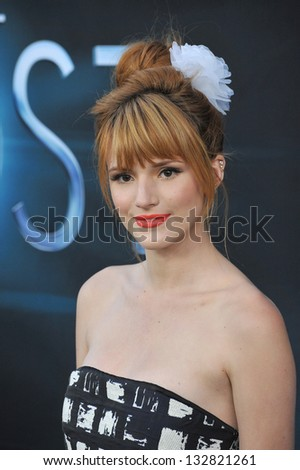 """Bella Thorne at the Los Angeles premiere of """"The Host"""" at the Cinerama Dome, Hollywood. March 19, 2013  Los Angeles, CA Picture: Paul Smith - stock photo"""