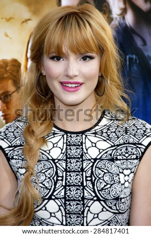 "Bella Thorne at the Los Angeles premiere of ""The Mortal Instruments: City Of Bones"" held at the Cinerama Dome in Hollywood on August 12, 2013 in Los Angeles, California. - stock photo"
