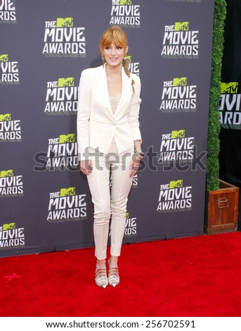 Bella Thorne at the 2013 MTV Movie Awards held at the Sony Pictures Studios in Los Angeles, United States, 14/04/13.  - stock photo
