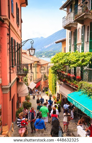 BELLAGIO, ITALY - JUNE, 12: View of picturesque alley of Bellagio on june 12, 2016