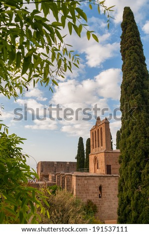 Bellapais Abbey. Kyrenia. Cyprus - stock photo