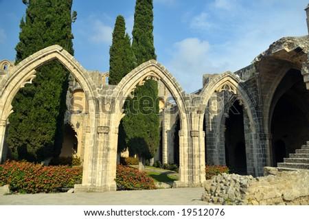 Bellapais Abbey, Kyrenia, Northern Cyprus - stock photo