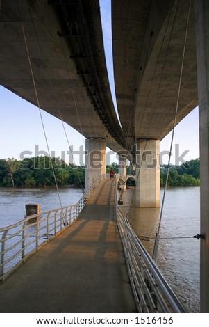Belle Isle Walking Bridge - stock photo