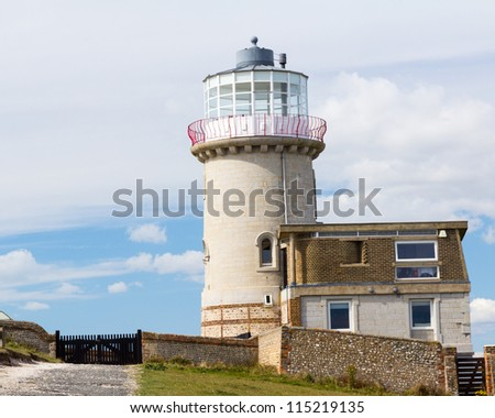 Belle Tout Lighthouse at Beachy Head near Eastbourne East Sussex, England UK