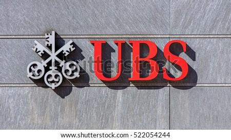 Bellinzona Switzerland 12 October 2016 Ubs Stock Photo 522054244