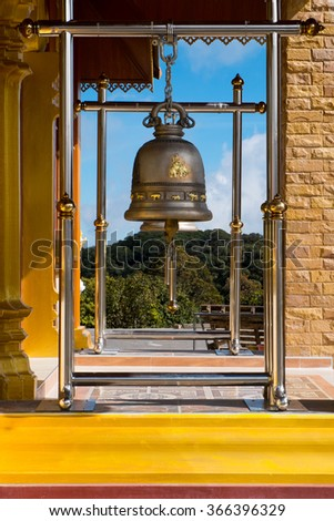 Bells at temples in Thailand - stock photo