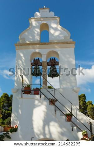 Belltower. Corfu, Greece - stock photo