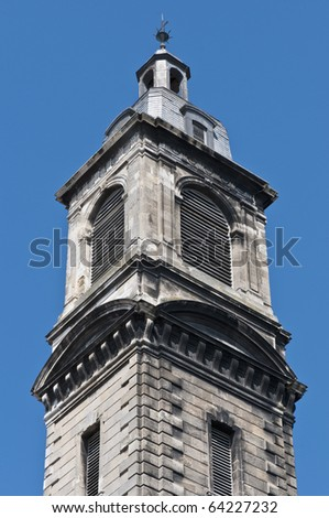 Belltower of the Church of Saint Paul located at Bourdeaux, France - stock photo