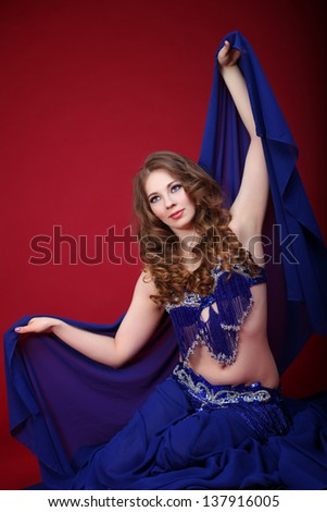 Belly dancer - stock photo